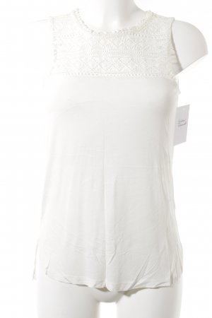 H&M Lace Top natural white casual look