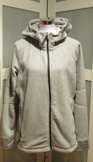 H&M Fleece Jackets silver-colored polyester