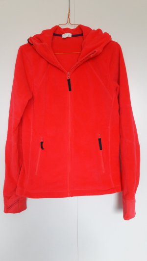 H&M Fleece Jackets neon red-red polyester