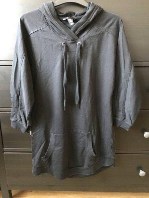 H&M Sport Hoodie Swearshirt schwarz mit Kapuze S 38