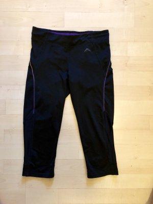 H&M Pantalon de sport noir-violet foncé