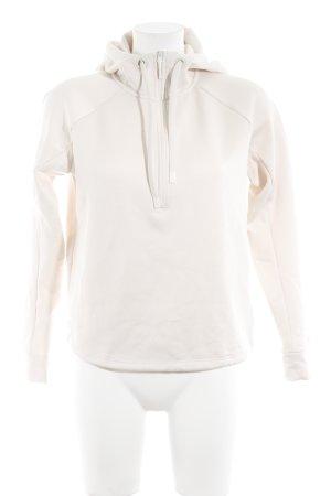 H&M Sport Kapuzenpullover creme sportlicher Stil