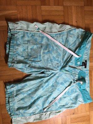H&M Sport Shorts turchese-verde pallido Tessuto misto