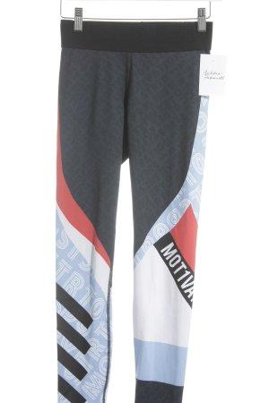 H&M Sport Sporthose abstrakter Druck sportlicher Stil