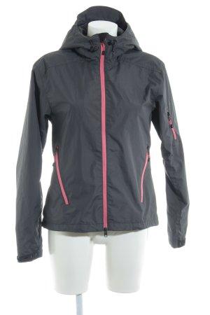 H&M Sport Sportjacke grau-neonpink sportlicher Stil