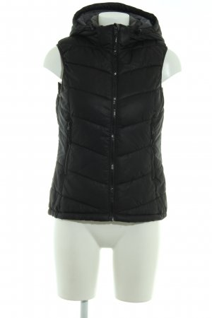 H&M Sport Quilted Gilet black-dark grey quilting pattern casual look