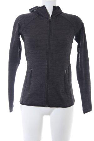 H&M Sport Sweatjacke dunkelgrau-schwarz meliert klassischer Stil