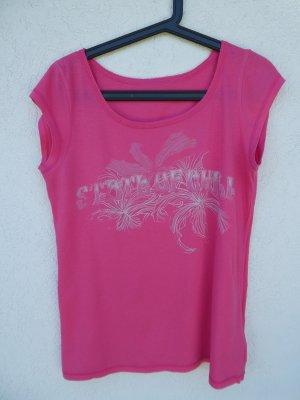 H&M Sport  – T-Shirt, pink mit Aufdruck - Gebraucht