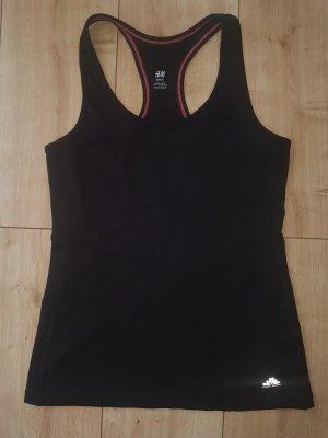 H&M Sport Tank Top Yoga Fitness Gym Schwarz M 38