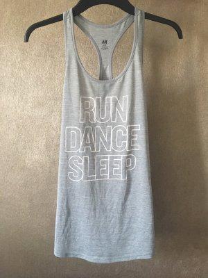 H&M Sport Top grau hellgrau Dance Gr. XS Gym Fitness
