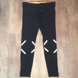 H&M Sport Pantalone da ginnastica multicolore Tessuto misto