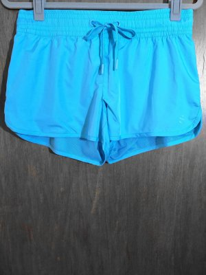H&M Sport Sport Shorts turquoise-neon blue polyester