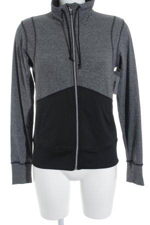 H&M Sportjacke grau-schwarz meliert Casual-Look