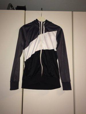 H&M Sportjacke schwarz/grau/weiss Grösse 38
