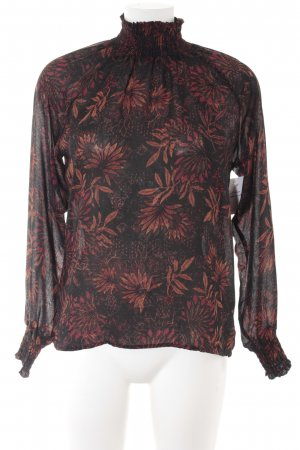 H&M Stehkragenbluse florales Muster Casual-Look