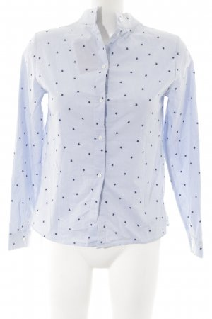 H&M Stehkragenbluse Sternenmuster Casual-Look
