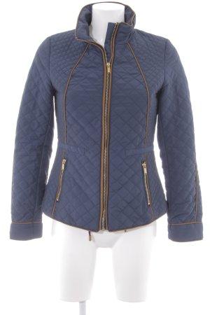 H&M Steppjacke dunkelblau-cognac Casual-Look
