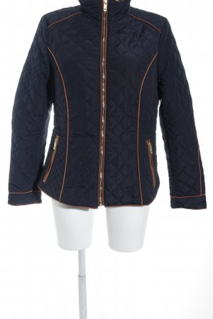 H&M Steppjacke dunkelblau-dunkelorange Steppmuster Street-Fashion-Look