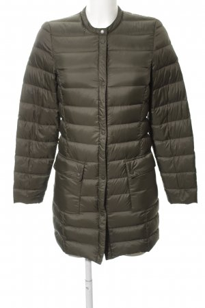 H&M Quilted Coat khaki quilting pattern casual look