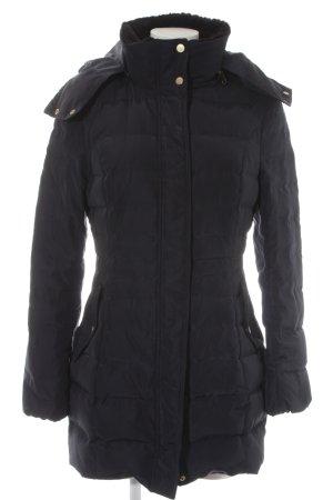 H&M Gewatteerde jas donkerblauw quilten patroon casual uitstraling