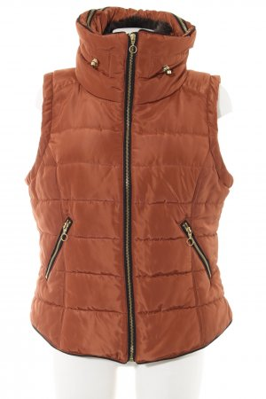 H&M Quilted Gilet light orange quilting pattern casual look