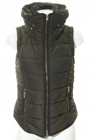 H&M Steppweste dunkelgrün-schwarz Casual-Look