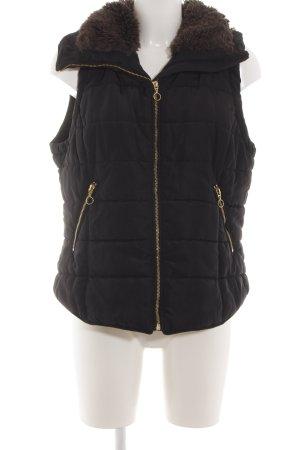 H&M Gewatteerd vest zwart quilten patroon casual uitstraling