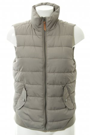 H&M Quilted Gilet green grey fluffy