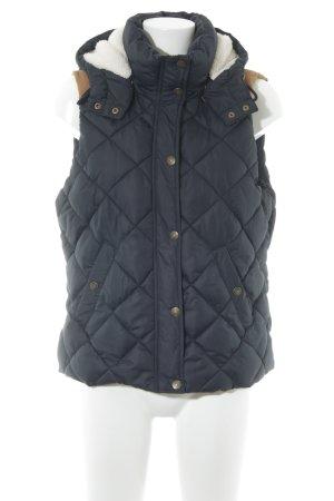 H&M Gilet matelassé marron clair-bleu foncé motif de courtepointe