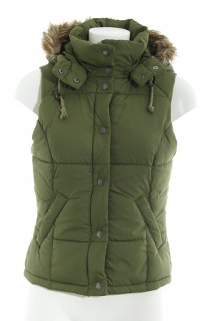 H&M Quilted Gilet light brown-grass green casual look