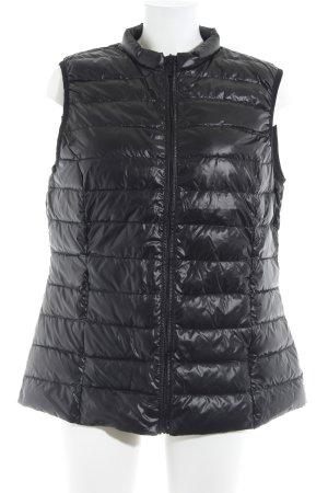 H&M Chaleco acolchado negro estampado acolchado look casual
