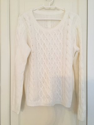 H&M Cable Sweater white