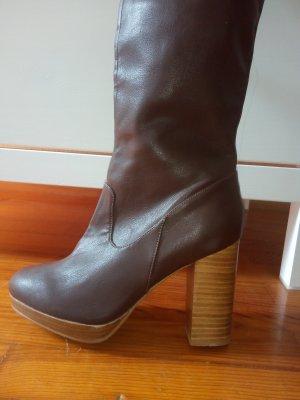 H&M Kaplaarzen bruin