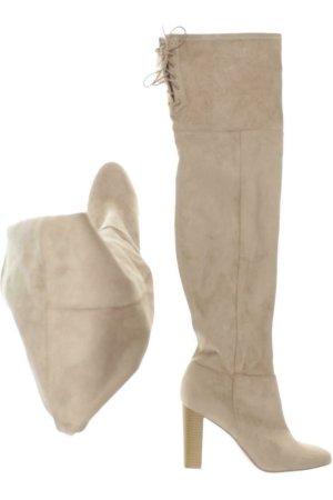 H&M Stiefel Damen Overknees Gr. DE 39 beige