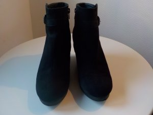 H&M Wedge Booties black imitation leather