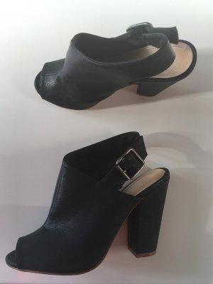 H&M Stiefelette High Heels Blogger Sandalette Ankle Boots schwarz