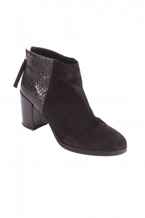 H&M Stiefeletten schwarz Animalmuster Casual-Look