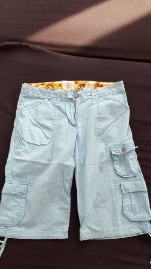 H&M Stoff Cargo Shorts Hose Capri blau 38