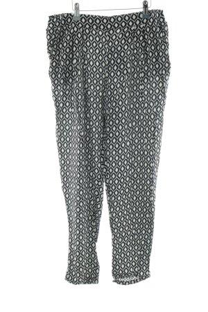 H&M Stoffen broek zwart-wit grafisch patroon simpele stijl
