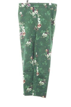 H&M Stoffhose grün Blumenmuster Casual-Look