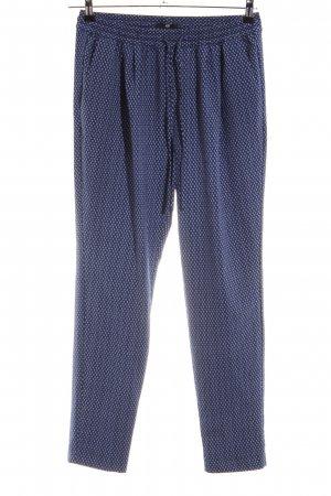 H&M Stoffhose blau grafisches Muster Casual-Look