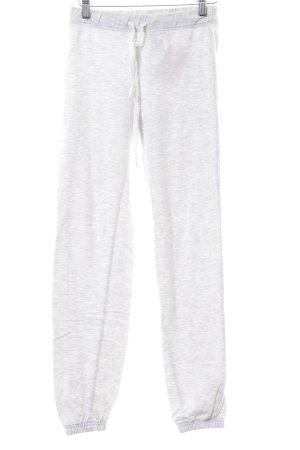 H&M Pantalon en jersey gris clair moucheté style décontracté