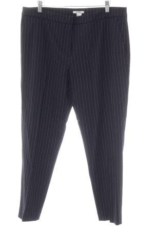 H&M Stoffhose dunkelblau-weiß Nadelstreifen Business-Look