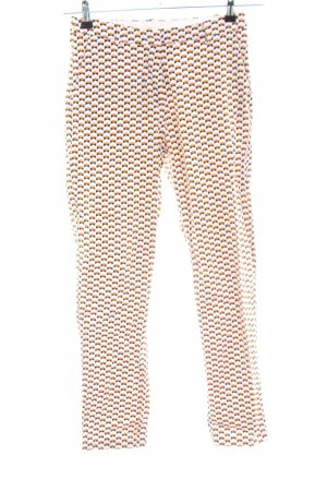 H&M Stoffhose hellorange abstraktes Muster Business-Look