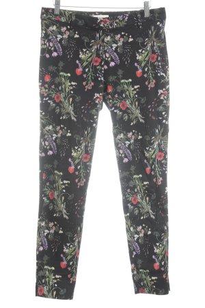 H&M Stoffhose florales Muster Romantik-Look