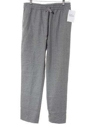 H&M Stoffhose grau-weiß Nadelstreifen Business-Look