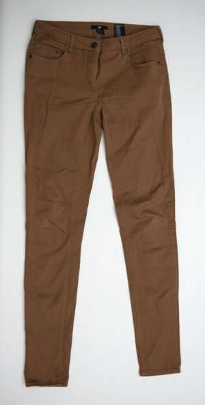 H&M Stoffhose Röhre Skinny in braun Größe 36/S