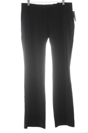 H&M Stoffhose schwarz-beige Nadelstreifen Business-Look