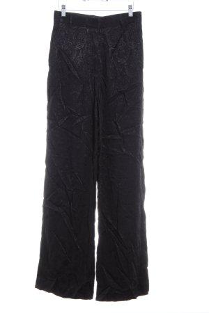 H&M Stoffhose schwarz Ornamentenmuster Elegant