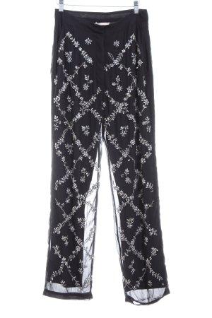 H&M Stoffhose schwarz-silberfarben Glitzer-Optik